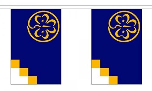Girl Guide Bunting 9M Metre Length With 30 Flags 9X6 100% Woven Polyester by Girl Guide