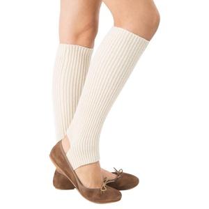 OVERMAL Women Warmers Knitting Sports Yoga Long Socks Boot Cover (White)