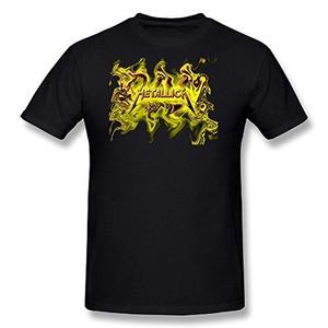 Metallica - Mens Black & White Logo T-Shirt In Black