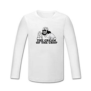 Macho Man Cream of the Crop for boys/girls Printed Long Sleeve Cotton T-shirt