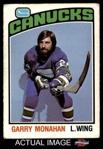 1976 O-Pee-Chee NHL # 295 Garry Monahan Vancouver Canucks (Hockey Card) Dean's Cards 2 - GOOD