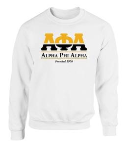 Alpha Phi Alpha Graphic Print Sweatshirt by Fashion Greek White Medium
