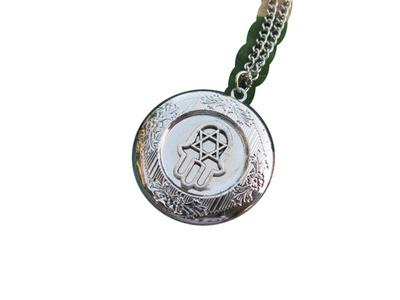 Hamsa Locket Necklace,Hand of Fatima, Locket Necklace, Hamsa Charm Locket, Fatima Hand,