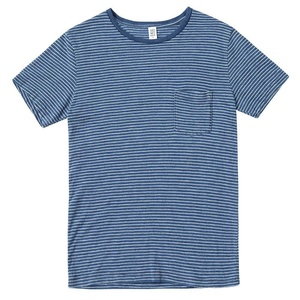 Save Khaki Men's S/S Indigo Beach Stripe Tee SK001-BS Navy SZ S