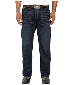 Ariat Men's Rebar Fashion M4 Lowrise Boot Bodie Blue Jeans Denim Pants