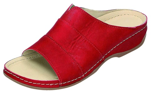 Miccos Shoes womens Mules red size 42.0 EU