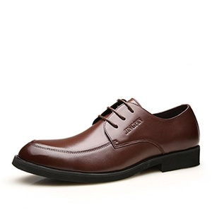 Breathable leather men's formal wear business shoes/ British pop male lace men/Lace low cut shoes-A Foot length=24.8CM(9.8Inch)