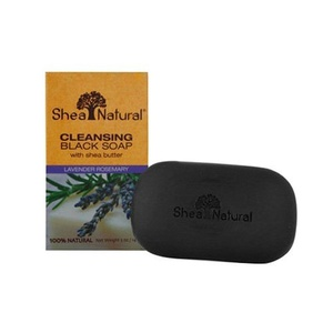 Shea Natural Butter Black Soap, Moisturizing Lavender Rosemary, 5 Ounce by Shea Natural