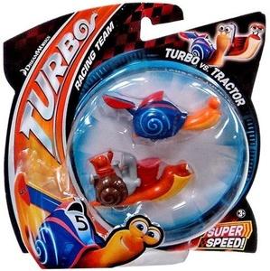 Dreamworks Turbo Racing Team Turbo Vs Tractor 2 Pack Figure Set by Dreamworks Turbo