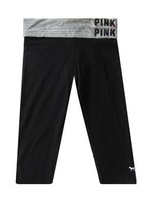Victoria's Secret Pink Bling Foldover Waist Crop Legging Yoga Pant M