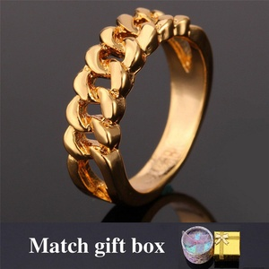 delatcha Jewelry Gold Hollow Ring Fashion Jewelry With BOX New TrendyStamp Gold Plated Ring Men Jewelry R817
