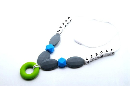 51WAY Baby Silicone Teething Necklace for Mom,BPA Free,Alphabet,Green