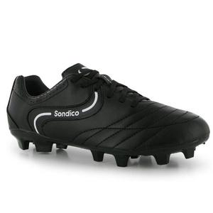 Mens Sondico Strike II FG Football Boots Shoes Black White (UK 11.5 / US 12)