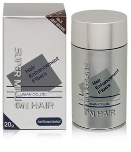 Super Million Hair Hair Enhancement Fibers Antibacterial 20g/0.7oz - 3 Light Brown by Super Million Hair