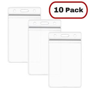 MIFFLIN Vertical ID Name Badge Holder in 10, 25, 50, 100, 250 Packs (10 Pack)