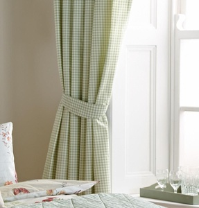 GINGHAM CHECK GREEN WHITE LINED 66