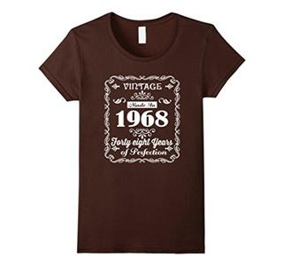 Women's 48th birthday Gift Idea 48 Year Old Boy Girl Shirt 1968 Medium Brown
