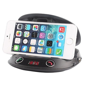 WOGIZ Cell Phone Holders,Wireless Car Mount Bluetooth FM Transmitter Handsfree Calling Steroe MP3 Speaker with Mount Holder