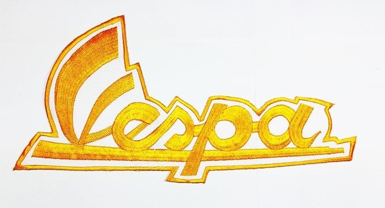 XXL BIG Yellow Vespa Piaggio Scooter Racing Motorcycle Motorrad patch Biker Italy Patch Biker jacket vest large Embroidered Iron on Hat Hoodie Backpack Ideal for Birthday Gift
