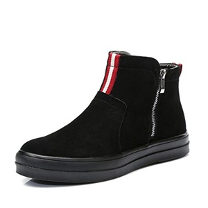 Leather ankle boots/Korean leisure shoes/Pedal the lazy man shoes-B Foot length=23.8CM(9.4Inch)
