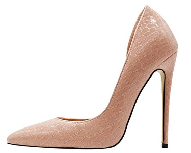 Maovii Women's Big Size High Heel Pointed Toe Noble Elegance Texture Leather Court Shoes 10.5 M US Pink