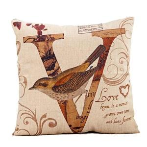 Iuhan® Fashion LOVE Bird Pillow Case Sofa Waist Throw Cushion Cover Home Decor
