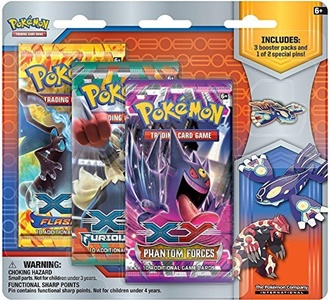 Pokemon X & Y Primal Reversion Primal Kyogre Collector Pin Pack by Pokemon X&Y Collectible Trading Card Game