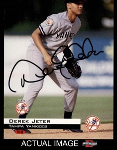 1994 Classic Games # 60 Derek Jeter New York Yankees (Baseball Card) Dean's Cards AUTOGRAPHED