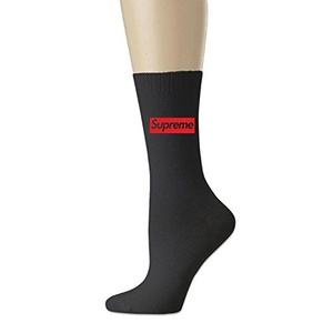 unisex Supreme Box Logo All-Season Cotton Crew Work Socks Black (3 colors)