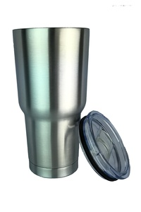 INNOPROD Double Wall Stainless Steel Insulated 30 oz. Tumbler with Sliding Lid