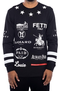 Hudson Outerwear The Hits Black Long Sleeve Shirt (S, Black)
