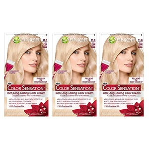 Garnier Hair Color Sensation Rich Long-Lasting Color Cream, 11.0 Extra Light Natural Blonde, 3 Count