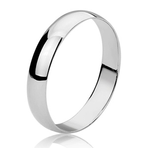 Sterling Silver 5MM Domed Classy Plain Wedding Band Ring Wedding Band