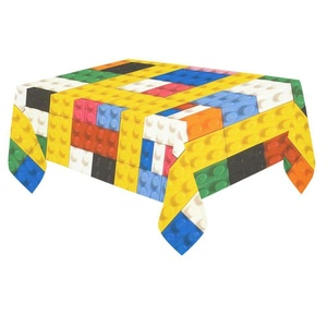 Unique Debora Custom Tablecloth Cover Cotton Linen Cloth Lego Pattern For Dining Room, Tea Table, Picnics, Parties DT-12