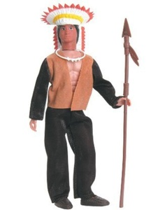 Western Heroes Sitting Bull Action Figure by Classic TV Toys