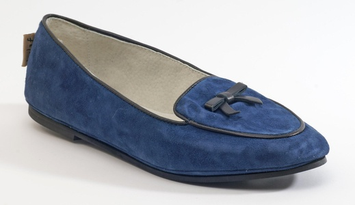 French Sole Women's Sweet Navy Suede Flat 7.5B