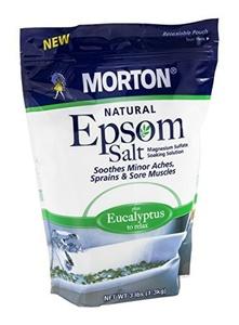 Morton Epsom Salt, Eucalyptus, 3 Pound (2 pack) by Morton Salt