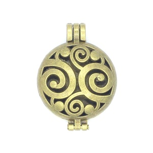 Charms 5pcs/lot Bronze Photo Floating Locket Aromatherapy Essential Oil Diffuser Pendant Jewelry