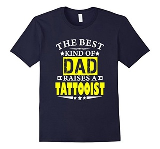 Men's The Best kind of Dad raises a tattooist t-shirt 3XL Navy