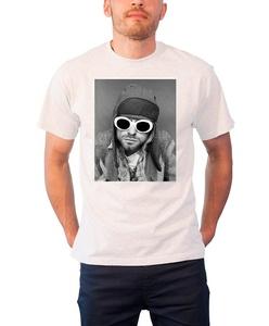 Kurt Cobain T Shirt Sunglasses Photo Nirvana Official Mens White