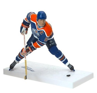McFarlane Toys NHL Sports Picks Legends Series 1 Action Figure Wayne Gretzky (Edmonton Oilers) Blue Jersey by McFarlane Toys