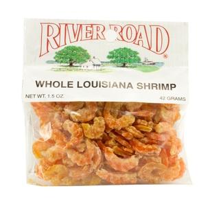River Road Whole Louisiana Shrimp 1.5 OZ (Pack of 5) + (6 Pack of M&M Milk Chocolate 1.69oz)