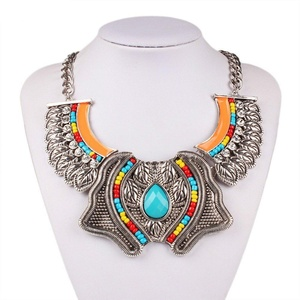 GDSTAR Big Maxi Nacklace Crystal Beads Statement Necklace Chain Chunky Necklace Enamel Jewelry