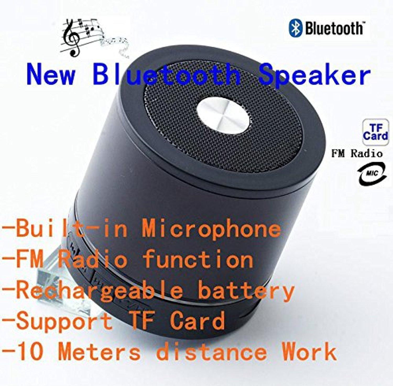 Black Bluetooth Wireless Speaker Mini Portable Speaker For Smartphone PC Tablet