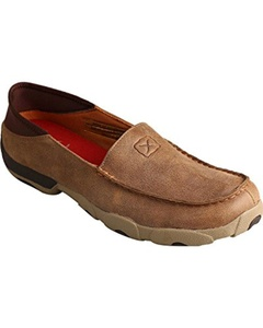 Twisted X Men's Bomber Slip-On Driving Mocs Brown 8 D(M) US