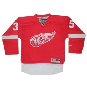 Boys NHL Detroit Red Wings Howard #35 Hockey Jersey / Sweater