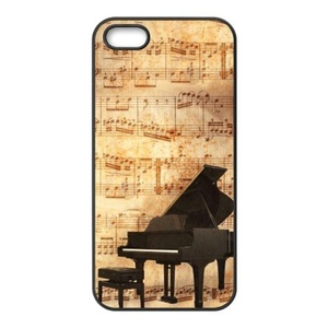 super shining day Best Piano Pattern iPhone 5/5S Back Covers With TPU Material