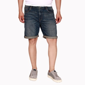 Wesc Men's Blue Denim Bermuda Shorts 100% Cotton