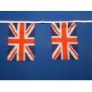 England Union Jack Flag Bunting Banner 20 Flags 10M - 32 feet Long by The fancy dress and party store