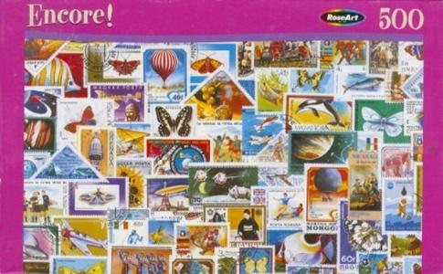 Encore 500pc. Puzzle-Stamp Collection by Encore